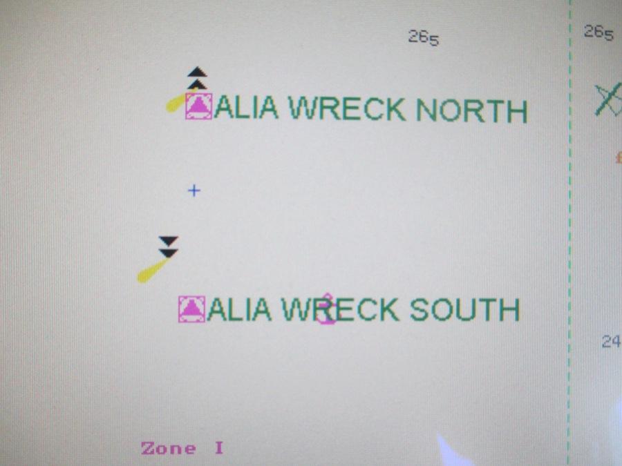 AIS ATON on ECDIS - Alia Wreck Tight
